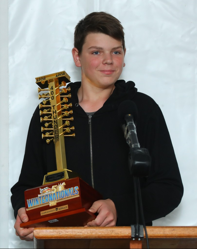 Jack Hazzard, Junior Dragster Champion.